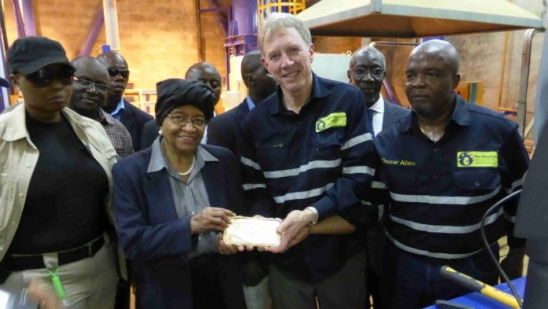Aureus Mining achieved first gold pour at the New Liberty mine in June 2015