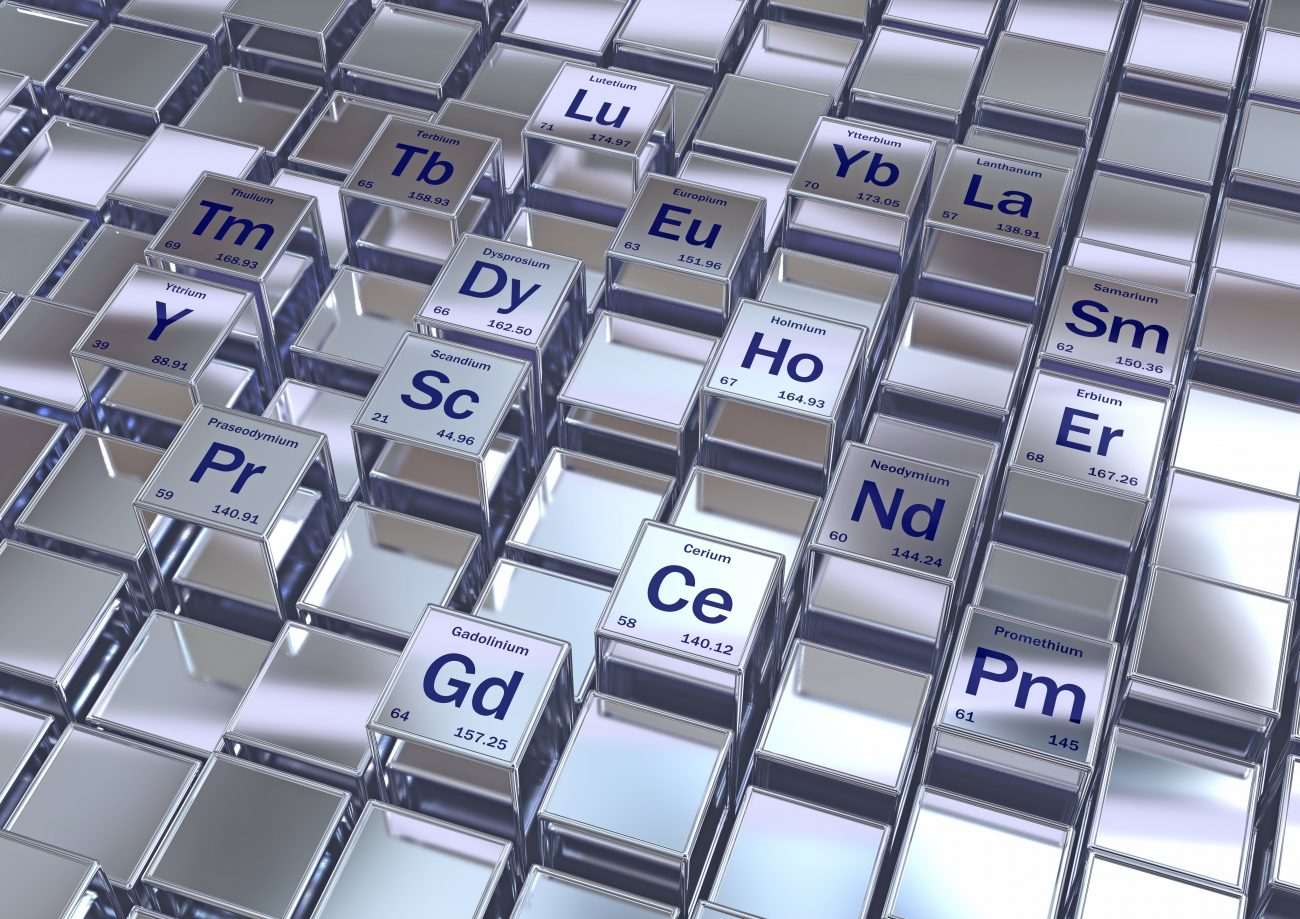 Rare earth metals, conceptual image. The rare earth metals, or rare earth elements, are a set of seventeen chemical elements in the periodic table, specifically the fifteen lanthanides plus scandium and yttrium.